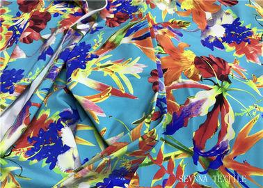 97959642606 Mini Floral Printed Bikini Fabric Material , 180gsm Lycra Bathing Suit  Fabric