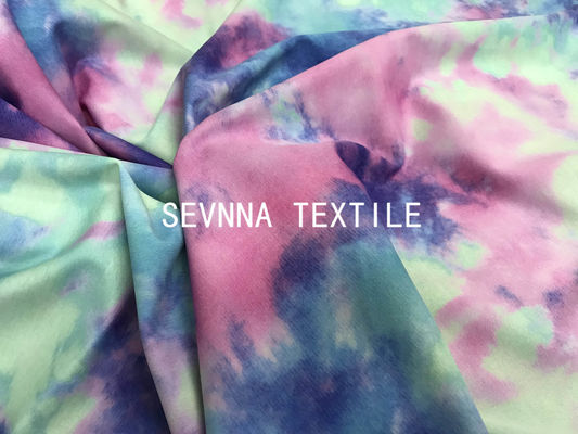Tie Dyed Free Cuttable Stretchy 230GSM Yoga Wear Fabric