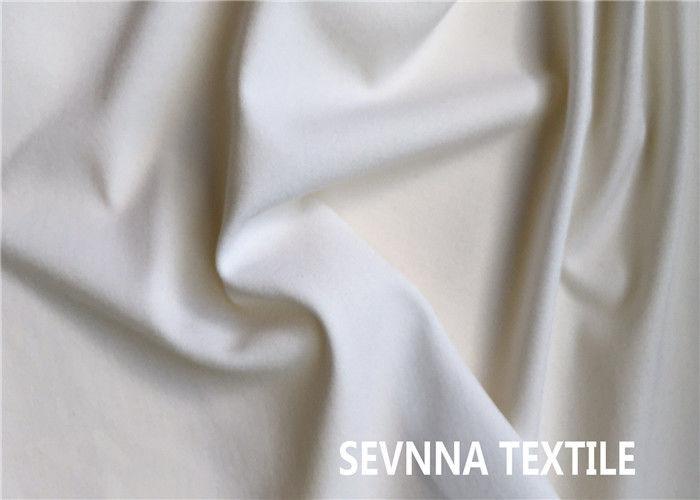 9f9f6c439dd Oil Resistant White Lycra Fabric , 2 Way Stretch Polyester Lycra Spandex  Fabric